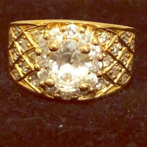 Vintage sterling silver gold & silver ring